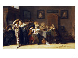 An Elegant Company Carousing in an Interior Prints by Dirck Hals