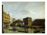 The Grand Canal, Venice with the Fondaco Dei Tedeschi, the Rialto Bridge Posters by Bellotto Bernardo