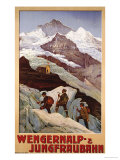 Wengernalp &amp; Jungfraubahn, circa 1900 Giclee Print by Anton Reckziegel