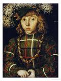 Portrait of Johann Friederich, 1509 Prints by Lucas Cranach the Elder