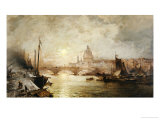 The Pool of London Giclee Print by Franz Richard Unterberger