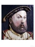 An Augsberg Polychrome Limewood Relief of Henry Viii, Mid 16th Century Giclee Print by Hans Holbein the Younger