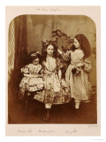 Irene Macdonald, Flo Rankin and Mary Macdonald at Elm Lodge, Hampstead, July 1863 Giclee Print by Lewis Carroll