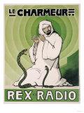 Le Charmeur, Rex-Radio, circa 1930 Lámina giclée
