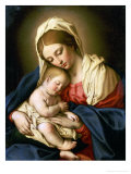 The Madonna and Child Giclée-tryk af Giovanni Battista Salvi da Sassoferrato