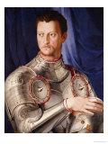 Portrait of Duke Cosimo I de Medici Florence (1503-1572) Giclée-tryk af Agnolo Bronzino