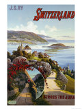 Switzerland Across the Jura, circa 1910 Giclee Print by Hugo F, D'alesi