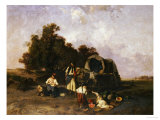 A Gypsy Encampment, 1895 Giclee Print by Pal Bohm