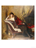 Portrait of Countess Michael Karolyi Reclining, Full Length, on a Divan Premium Giclee Print by John Quincy Adams