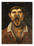 A Peasant Man, Head and Shoulders, Shouting Giclee Print by Agostino Carracci