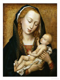 Virgin and Child, 15th Century Giclée-tryk af Rogier van der Weyden