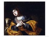 Saint Agnes Prints by Pacecco De Rosa