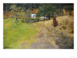 Haymaking, 1889 Giclee Print by Fritz Thaulow