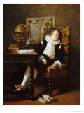 The Little Schoolboy, 1850 Poster by Adolphe Francois Monfallet