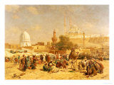 Outside Cairo, 1883 Giclee Print by Cesare Biseo