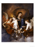 The Madonna and Child with Two Musical Angels Giclée-Druck von Sir Anthony Van Dyck