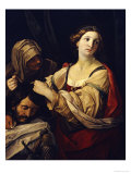 Judith with the Head of Holofernes Giclée-tryk af Elisabetta Sirani