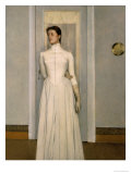 Portrait of Marguerite, the Sister of the Artist Premium Giclee Print by Fernand Khnopff