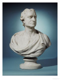 English White Marble Bust of Sir Isaac Newton (1643-1727) Giclee Print by Joseph Wilton