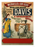 Davis, Machine a Coudre Americaine, circa 1894 Reproduction procédé giclée