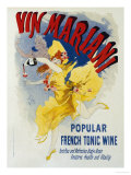 Vin Mariani Lmina gicle por Jules Chret
