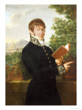 Portrait of an Official, Said to Be l'Intendant Delonay, Standing Above Florence, 1809 Giclee Print by Francois-xavier Fabre