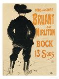 Aristide Bruant, 1893 Giclee Print by Henri de Toulouse-Lautrec