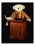 James, a Merrythought Bear Modelled on Auctioneer, James Christie Posters