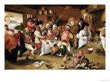 The King Drinks Giclée-Druck von Marten Van Cleve