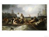 Emigration to America, 1860 Giclee Print by Antonie Volkmar