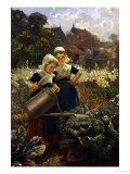 The Little Gardeners Giclee Print by Edmond Louyot