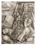 Melancholia, 1513 Giclée-tryk af Albrecht Dürer