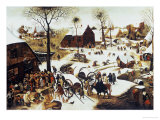 The Census at Bethlehem Poster by Pieter Bruegel the Elder