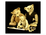 A Selection of Steiff Teddy Bears Doing a Jigsaw Puzzle Giclee Print by Steiff 