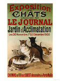 Exposition de Chats, 1900 Giclee Print by Roedel 