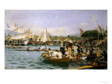 A Regatta, Geneva Giclee Print by Frederic Dufaux