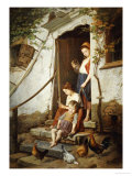 The Cottage Steps, 1861 Giclee Print by Theodore Gerard