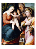 The Holy Family with Saint Catherine Giclee Print by Pellegrino Tibaldi