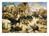 The 92nd Highlanders and the 2nd Gurkhas Storming Gaudi Mullah Sahibhad, Candahar Giclee Print by Richard Caton Woodville