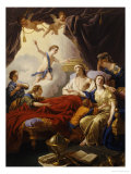 Dauphin the Royal Highness Dying and Duc Who Presents the Crown of Immortality Giclee Print by Jean-francois Lagrenee