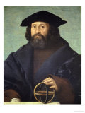 Portrait of an Astronomer Gicle-tryk af Giovanni Cariani