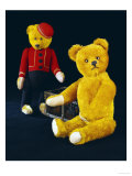 "A Schuco Rich Golden Plush Covered Teddy Bear and a Schuco ""Bell-Hop"", circa 1923 Giclee Print by Schuco"