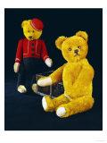 """A Schuco Rich Golden Plush Covered Teddy Bear and a Schuco """"Bell-Hop"""", circa 1923 Print by  Schuco"""