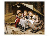 Three Little Kittens, 1883 Giclee Print by Joseph Clark