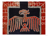 A Kwakiutl Button Blanket, a Frontal Eagle with Spread Wings, 19th Century Art