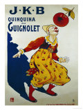 J.K.B, Quinquina au Guignolet, circa 1900 Art by Eugene Oge