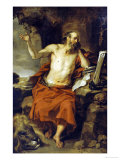 Saint Jerome in the Wilderness Poster von Pieter Van Lint