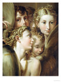 Five Angels Affischer av Parmigianino,