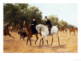 Rotten Row, Hyde Park Giclee Print by Thomas Blinks