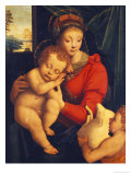 The Madonna with the Sleeping Child and the Infant Baptist Prints by Bernardino Lanino